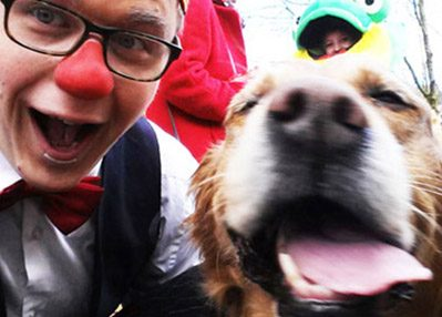 Clown Wous in Zeist tijdens dierendag 2015