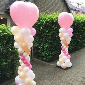 Ballonpilaar met hart