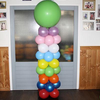 Ballonpilaar creatief